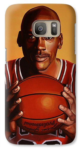 Michael Jordan 2 Galaxy S7 Case by Paul Meijering