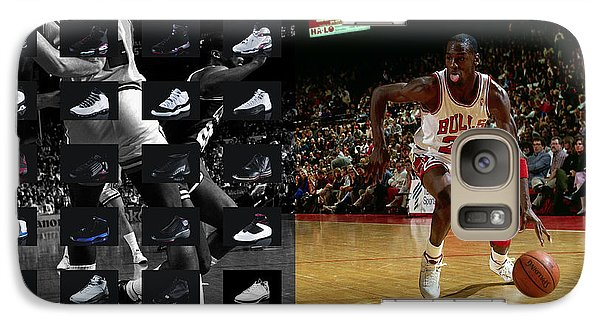 Michael Jordan Shoes Galaxy S7 Case by Joe Hamilton