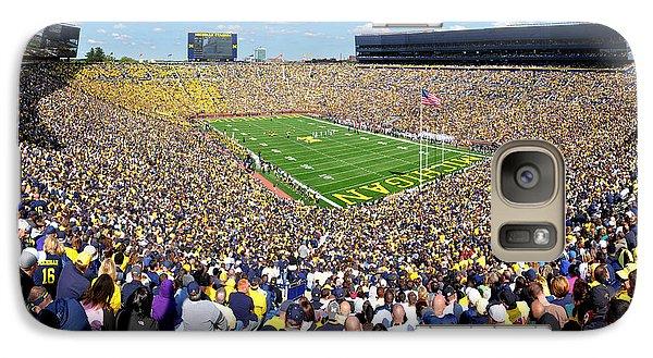 Michigan Stadium - Wolverines Galaxy Case by Georgia Fowler