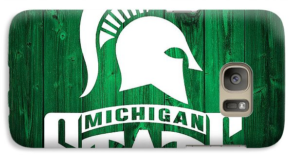 Michigan State Barn Door Galaxy Case by Dan Sproul