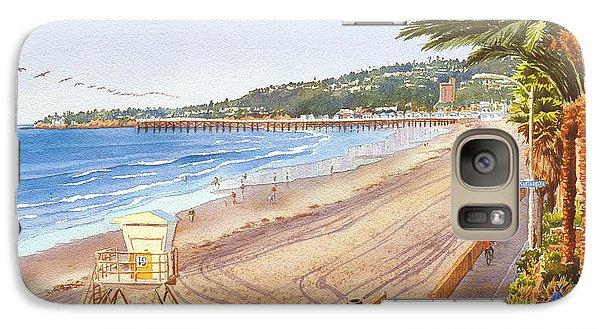 Mission Beach San Diego Galaxy Case by Mary Helmreich