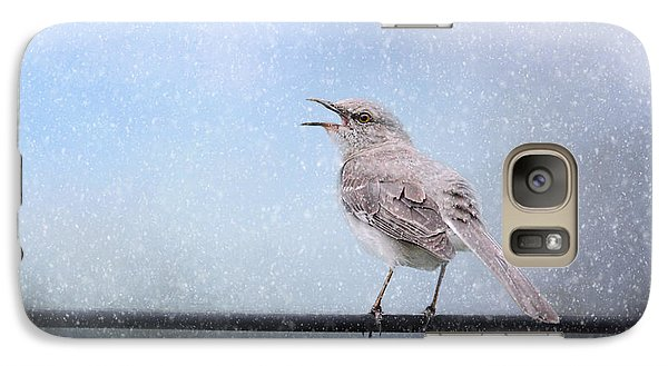 Mockingbird In The Snow Galaxy S7 Case by Jai Johnson