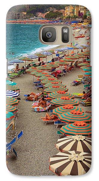 Monterosso Beach Galaxy Case by Inge Johnsson