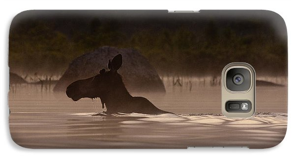 Moose Swim Galaxy Case by Brent L Ander