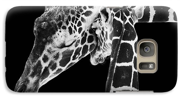 Mother And Baby Giraffe Galaxy Case by Adam Romanowicz