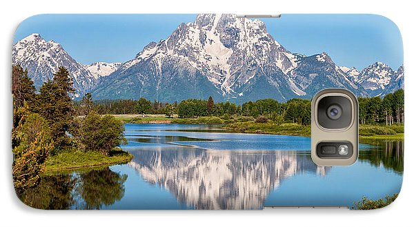 Mount Moran On Snake River Landscape Galaxy S7 Case by Brian Harig