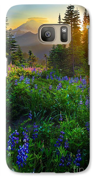 Mount Rainier Sunburst Galaxy Case by Inge Johnsson