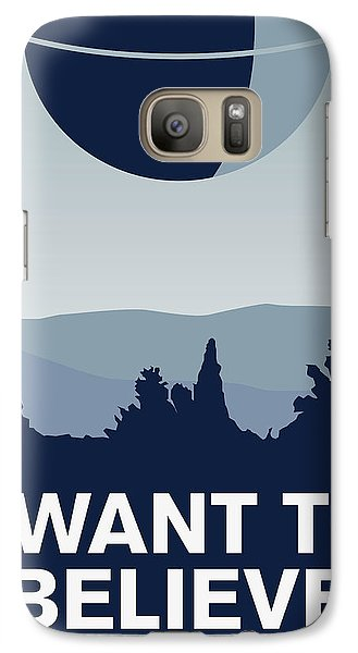 My I Want To Believe Minimal Poster-deathstar Galaxy S7 Case by Chungkong Art