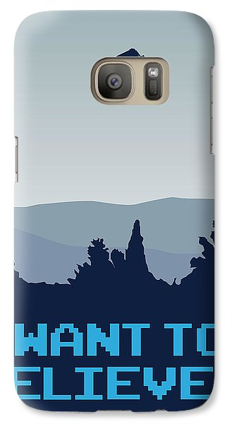 My I Want To Believe Minimal Poster- Tardis Galaxy Case by Chungkong Art