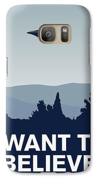 My I Want To Believe Minimal Poster-xfiles Galaxy Case by Chungkong Art