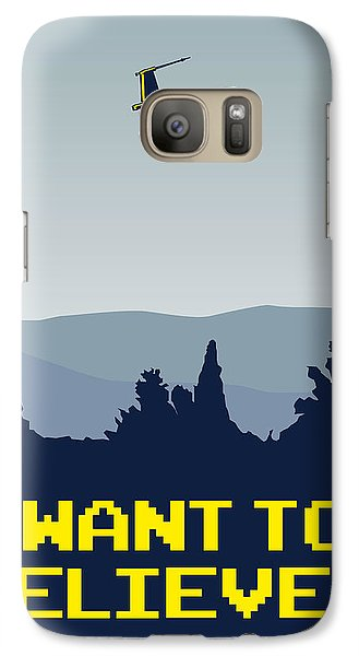 My I Want To Believe Minimal Poster- Xwing Galaxy Case by Chungkong Art