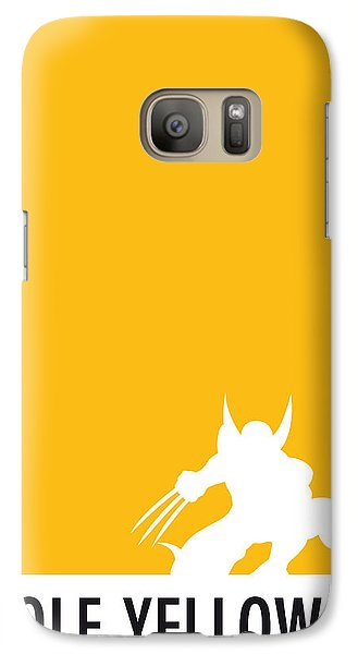 My Superhero 05 Wolf Yellow Minimal Poster Galaxy S7 Case by Chungkong Art