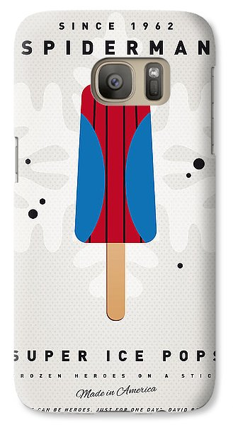 My Superhero Ice Pop - Spiderman Galaxy S7 Case by Chungkong Art