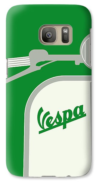 My Vespa - From Italy With Love - Green Galaxy S7 Case by Chungkong Art