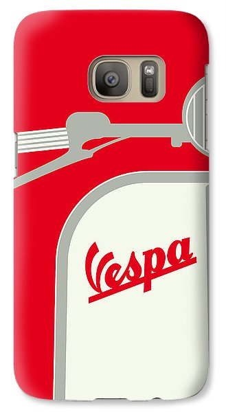 My Vespa - From Italy With Love - Red Galaxy S7 Case by Chungkong Art