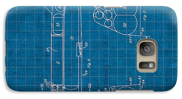 Nasa Space Shuttle Vintage Patent Diagram Blueprint Galaxy S7 Case by Design Turnpike
