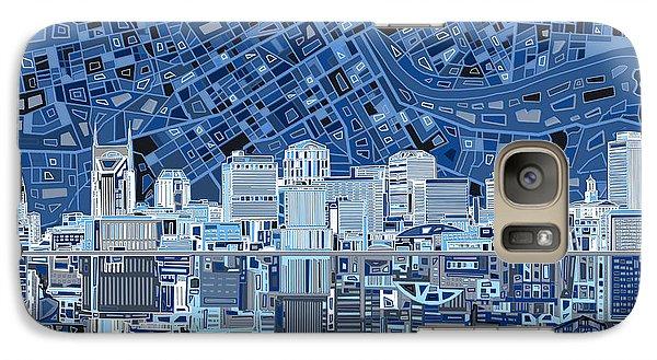 Nashville Skyline Abstract Galaxy Case by Bekim Art