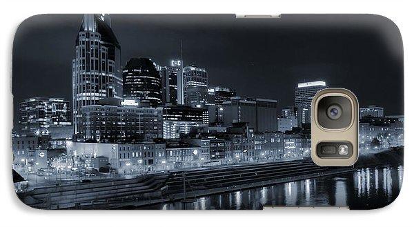 Nashville Skyline At Night Galaxy Case by Dan Sproul