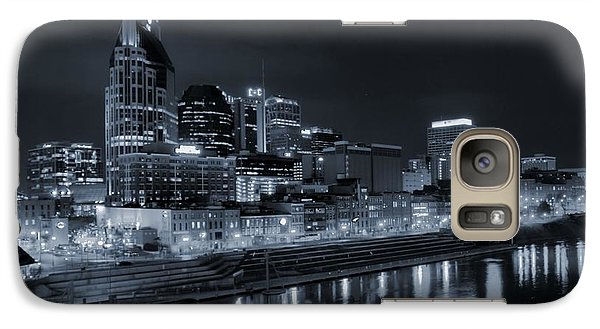 Nashville Skyline At Night Galaxy Case by Dan Sproul