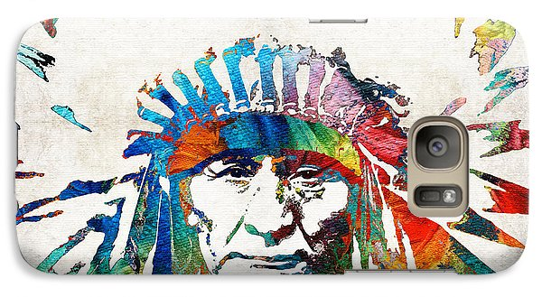 Native American Art - Chief - By Sharon Cummings Galaxy Case by Sharon Cummings