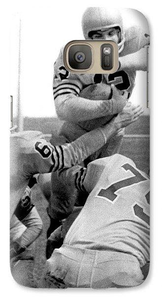Navy Quarterback Staubach Galaxy S7 Case by Underwood Archives