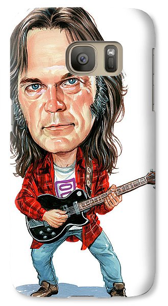Neil Young Galaxy S7 Case by Art