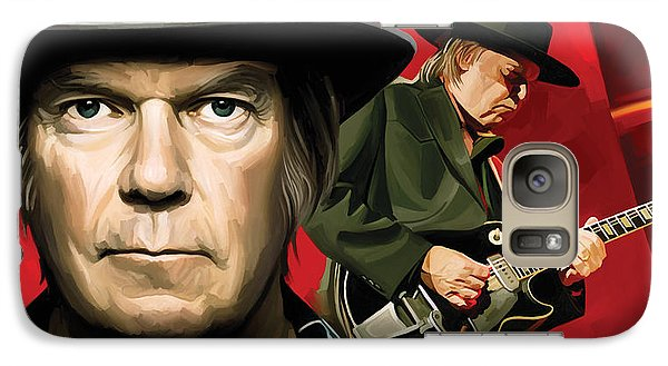 Neil Young Artwork Galaxy Case by Sheraz A