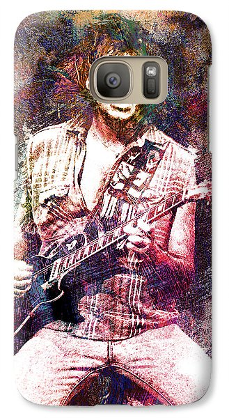 Neil Young Original Painting Print Galaxy Case by Ryan Rock Artist