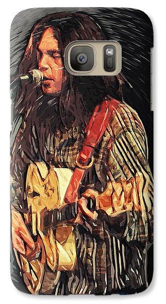 Neil Young Galaxy Case by Taylan Soyturk
