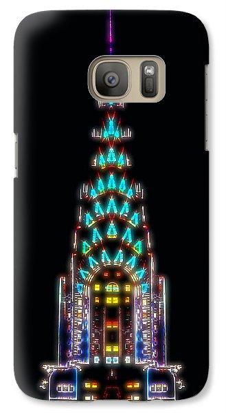 Neon Spires Galaxy S7 Case by Az Jackson