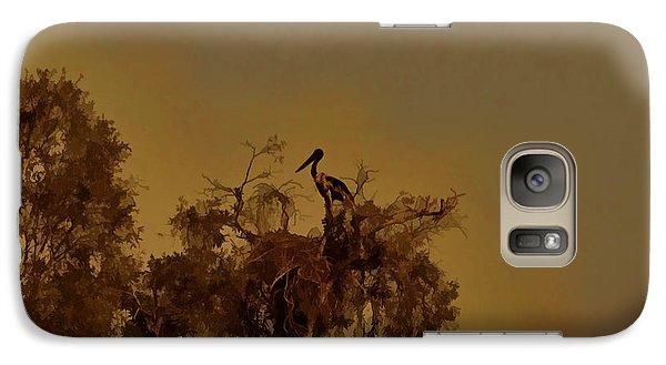 Nesting Jabiru  Galaxy S7 Case by Douglas Barnard