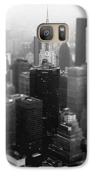 New York City - Fog And The Chrysler Building Galaxy Case by Vivienne Gucwa
