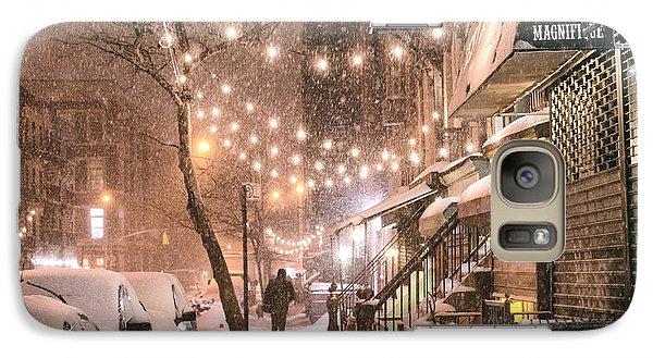 New York City - Winter Snow Scene - East Village Galaxy Case by Vivienne Gucwa