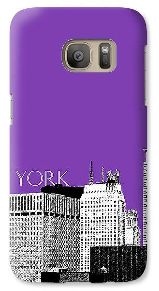 New York Skyline Chrysler Building - Purple Galaxy Case by DB Artist