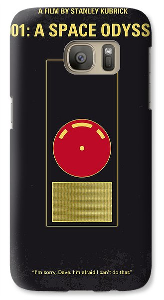 No003 My 2001 A Space Odyssey 2000 Minimal Movie Poster Galaxy S7 Case by Chungkong Art