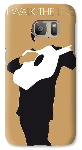 No010 My Johnny Cash Minimal Music Poster Galaxy S7 Case by Chungkong Art