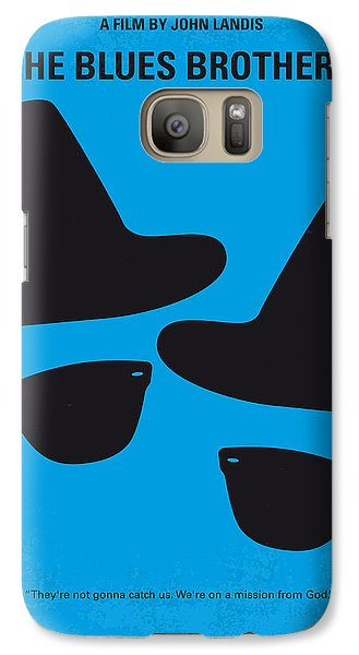 No012 My Blues Brother Minimal Movie Poster Galaxy S7 Case by Chungkong Art