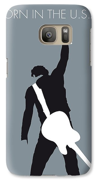 No017 My Bruce Springsteen Minimal Music Poster Galaxy S7 Case by Chungkong Art