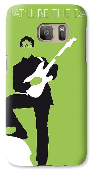 No056 My Buddy Holly Minimal Music Poster Galaxy S7 Case by Chungkong Art