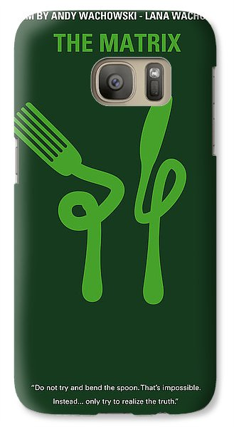 No093 My The Matrix Minimal Movie Poster Galaxy S7 Case by Chungkong Art