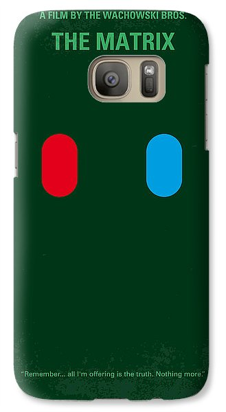 No117 My Matrix Minimal Movie Poster Galaxy S7 Case by Chungkong Art