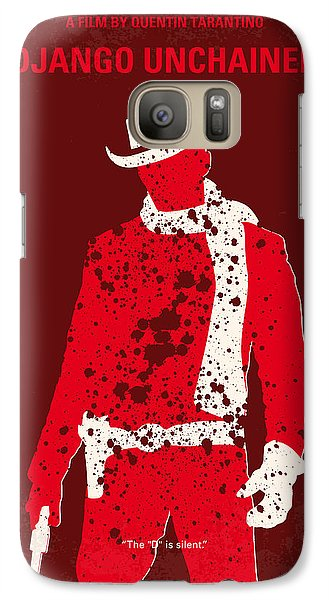 No184 My Django Unchained Minimal Movie Poster Galaxy S7 Case by Chungkong Art