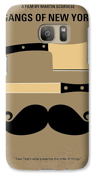 No195 My Gangs Of New York Minimal Movie Poster Galaxy S7 Case by Chungkong Art