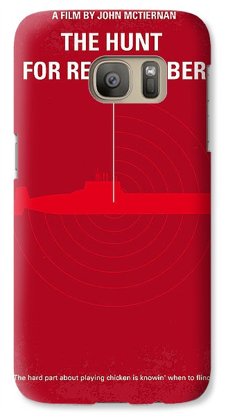 No198 My The Hunt For Red October Minimal Movie Poster Galaxy S7 Case by Chungkong Art