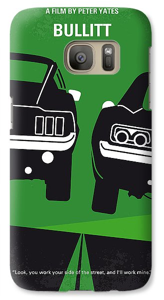 No214 My Bullitt Minimal Movie Poster Galaxy S7 Case by Chungkong Art