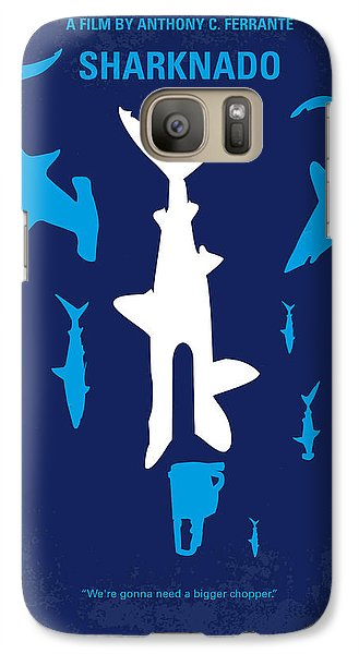 No216 My Sharknado Minimal Movie Poster Galaxy Case by Chungkong Art
