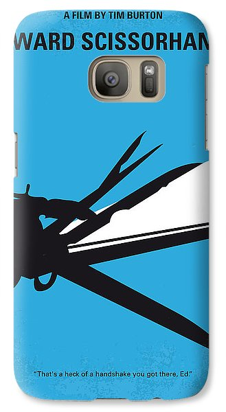 No260 My Scissorhands Minimal Movie Poster Galaxy Case by Chungkong Art