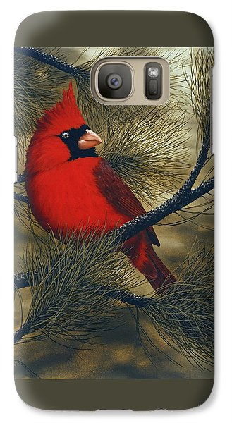 Northern Cardinal Galaxy Case by Rick Bainbridge