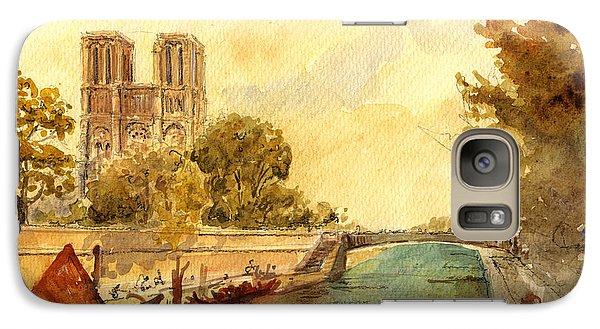 Notre Dame Paris. Galaxy S7 Case by Juan  Bosco