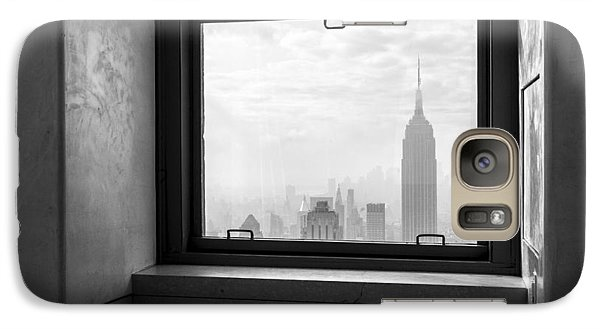 Nyc Room With A View Galaxy Case by Nina Papiorek